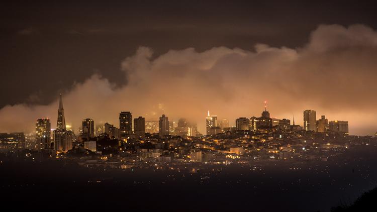 San Francisco Bay, San Francisco, California, CA, water, Mt Tamalpais, sunrise, clouds, bay area, dawn, fog, marin headlands, , photo