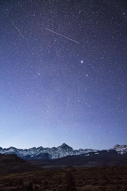 Rocky Mountains, San Juan mountains, rockies, san juans, fall, autumn, color, trees, aspen, pine, fir, colorado, co, sneffels, ridgway, clouds, sunrise, stars, sunrise , photo