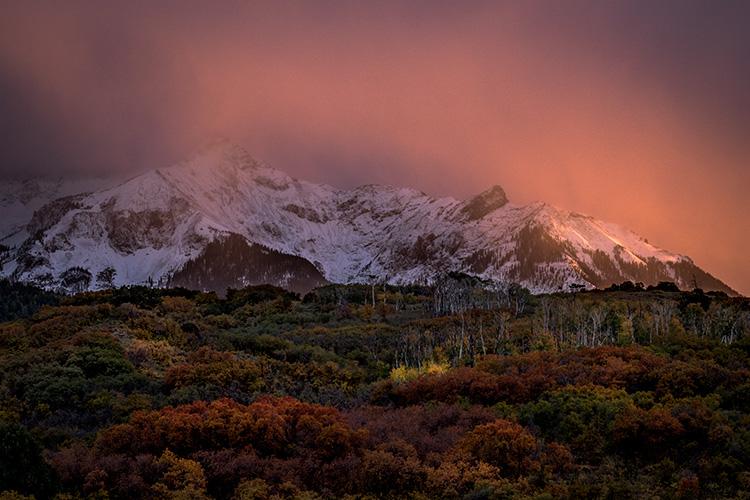 Rocky Mountains, San Juan mountains, rockies, san juans, fall, autumn, color, trees, aspen, pine, fir, colorado, co, owl creek, rainbow, ridgway, sneffels range, photo