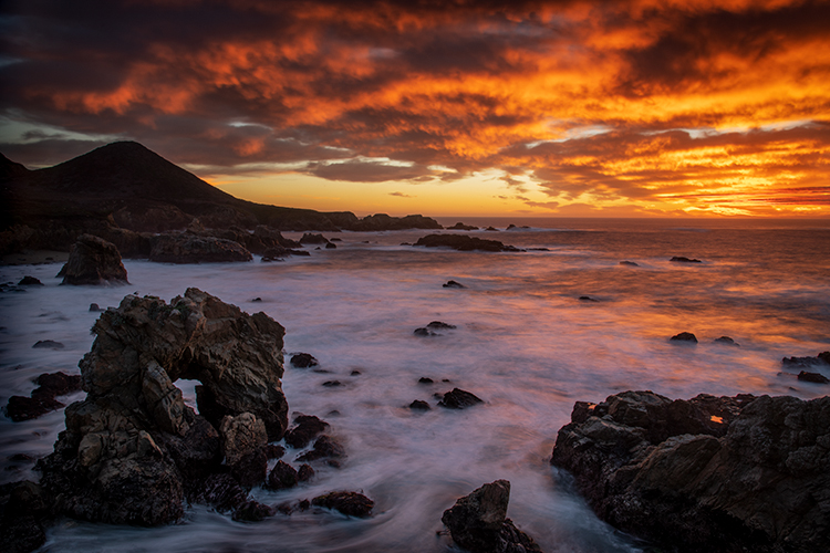 big sur, garrapata, state park, ca, california, pacific, ocean, water, beach, sunrise, sunset, surf, rocks, rock, soberanes, photo