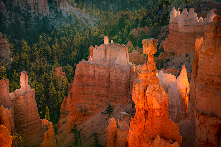bryce national park, bryce hoodoos, sunset point, winter, southwest, sunset, AZ, UT, arizona, utah, indian land, mountains, desert, red rock, hoodoo, colorado plateau, thors hammer, stars, photo