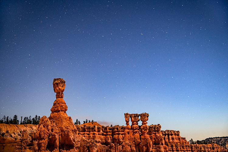 bryce national park, bryce hoodoos, sunset point, winter, southwest, sunset, AZ, UT, arizona, utah, indian land, mountains, desert, red rock, hoodoo, colorado plateau, thors hammer, stars, photo