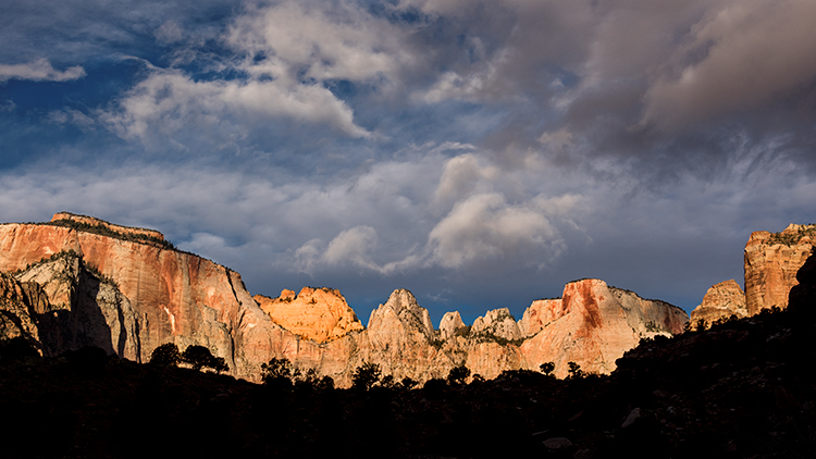 zion, zion national park, mountains, southwest, utah, maples, fall colors, fall, temple, towers,  sunrise, alpine glow,, photo