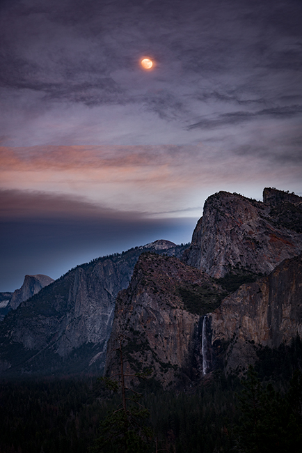yosemite, national park, sierra, valley, trees, flora, mountains, leaves, ca, colors, merced river, merced, maples, tunnel view, el capitan, half dome, sentinel dome, moonrise, sunset, moon, winter, photo