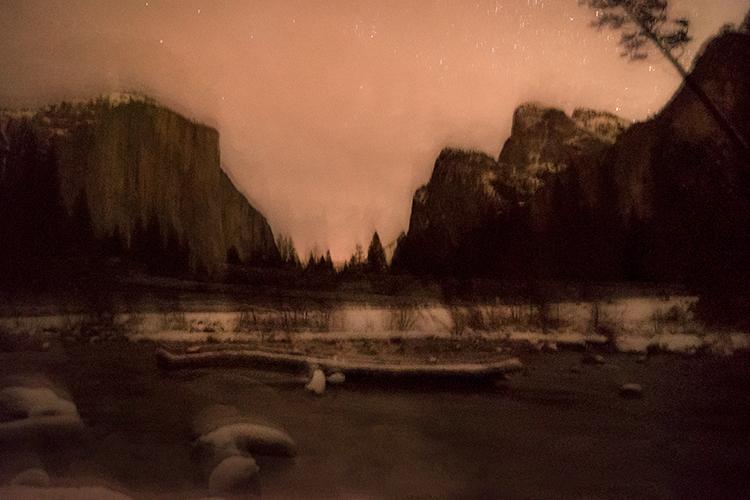 yosemite national park, yosemite, california, merced river, merced, sierra, stars, winter, snow, el capitan, valley view, water, photo