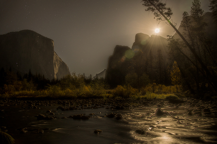 yosemite, national park, ca, california, mountains, sierra, water, half dome, valley, sunset, moonrise, moonlight, moon, fall, colors flora, trees, merced, river,, photo