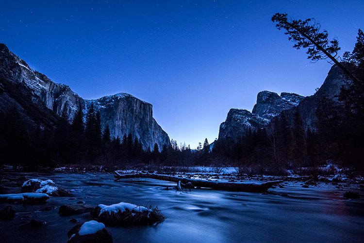 Yosemite National Park, yosemite, ca, trees, sierra, winter, water, ice, frost, merced, merced river, snow, mountains, valley view, valley, sunrise, dawn, stars, photo
